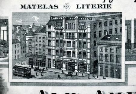 Albert Ameke, Place Fontainas 9-15, Bruxelles, en-tête, AVB/TP 47599 (1911)