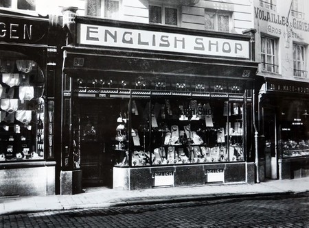 English Shop, Rue du Marché aux Herbes 15, Bruxelles, vue de la vitrine  (© Fondation CIVA Stichting/AAM, Brussels /Paul Hamesse)