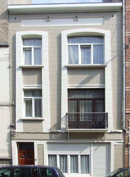 Albert de Latourstraat 3-5, Schaarbeek, gevel ( © CM, foto 2013)