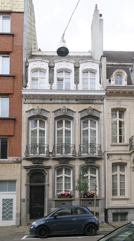 Rue Jean-Baptiste Meunier 12, Ixelles, élévation principale (© APEB, photo 2017)
