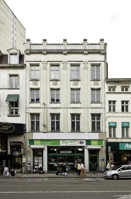 Albert Hall, Chaussée d'Ixelles 16 | Chaussée de Wavre 12, Ixelles, élévation principale (© SPRB-BDU, photo 2011)