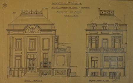 Chaussée de Ninove 162-164, Molenbeek-Saint-Jean, élévations (© Fondation CIVA Stichting/AAM, Brussels/ Paul Hamesse)