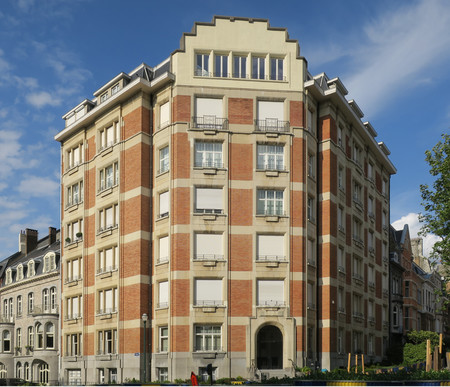 Avenue des Klauwaerts 37-37a-38 | Avenue Géo Bernier, Ixelles, élévation principale (© APEB, photo 2017)