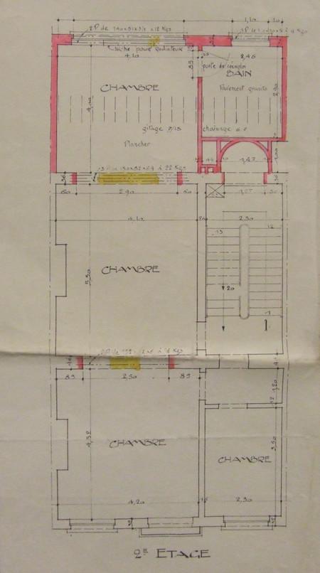 Rue Marie-Thérèse 29, Bruxelles Extension Est, plan du deuxième étage, AVB/TP 31841