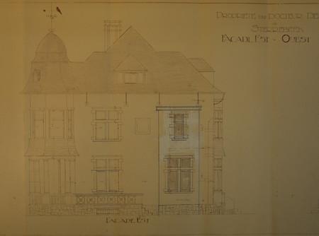 Villa du Docteur Derscheid, Sterrebeek, façade est (© Fondation CIVA Stichting/AAM, Brussels/ Paul Hamesse)