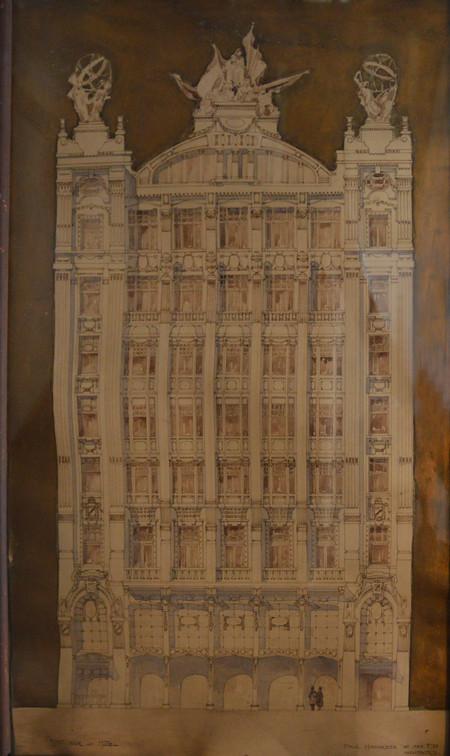 Projet pour un hôtel (non réalisé), archives familiales Hamesse