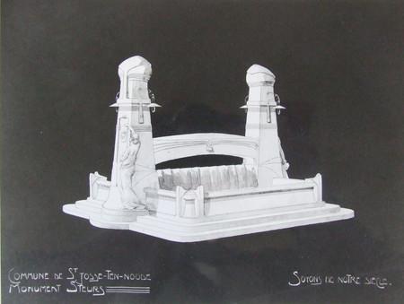 Projet de monument Armand Steurs (non réalisé) (© Fondation CIVA Stichting/AAM, Brussels/ Paul Hamesse)