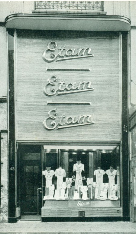 Etam, Rue Sainte-Catherine 43, Bruxelles Pentagone, vitrine, Vers l'art, 1937, n°1, p. 68