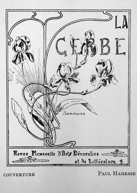 La Gerbe, Revue d'Art décoratif et de Littérature, Ire année, no1, 15 février 1898, p. 1