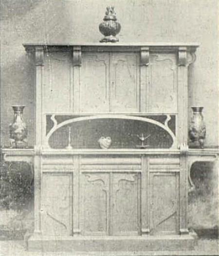 Meuble d'atelier, 1898 (<em>La Gerbe</em>, Revue d'Art décoratif et de Littérature, 1<sup>e</sup> année, n<sup>°</sup>4, novembre 1898, p. 15)