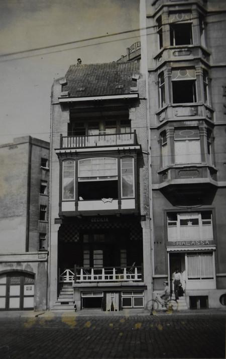 Villa Cecilia, Zeedijk, Middelkerke, photo 1953, Archives familiales Hamesse