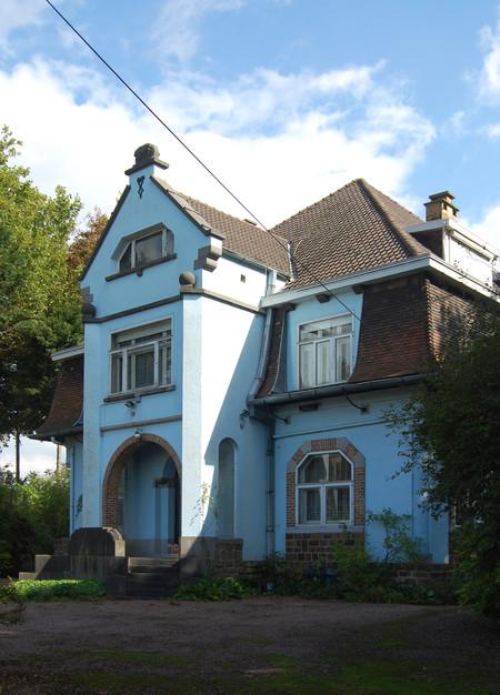 Villa La Joncquière, façade avant, rue des Tanneurs 104, Estaimbourg (Photo Th. Van den Noortgaete, 2017)
