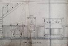 Zeedijk, Middelkerke, plan du mobilier intérieur (© Fondation CIVA Stichting/AAM, Brussels /Paul Hamesse)