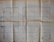 Albert Ameke, Place Fontainas 9-15, Bruxelles, coupe longitudinale, AVB/TP 943 (1904)