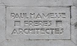 Ets Van der Elst, Charles Demeerstraat 1-3 | Dieudonné Lefèvrestraat 75, Brussel Laken, signatuur (© APEB, foto 2017)