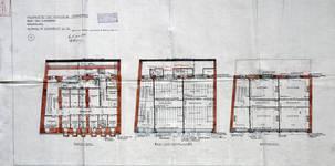 Rue du Lombard 5-9, Bruxelles, plan des niveaux, AVB/TP 3969 (1908)