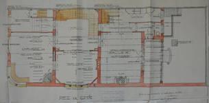 Hôtel Sigart, Avenue Louise 413, Bruxelles Extension Est, plan du rez-de-chaussée, AVB/TP 1865 (1911)