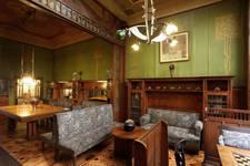 Hôtel Cohn-Donnay, Rue Royale 316, Saint-Josse-ten-Noode, rez-de-chaussée, salle de billard et fumoir ( © APEB, photo 2013)