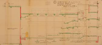 Albert Hall, Chaussée d'Ixelles 16 | Chaussée de Wavre 12, Ixelles, coupe, ACI/Urb. 171-16