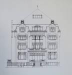 Château Les Asiliers, Avenue du Vert Chasseur 44, Uccle, projet non retenu de façade (© Fondation CIVA Stichting/AAM, Brussels/ Paul Hamesse)