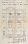 Avenue Molière 109-111, Forest, élévation principale de l'extension, ACF/Urb. 8190 (1924)