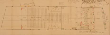Albert Hall, Chaussée d'Ixelles 16 | Chaussée de Wavre 12, Ixelles, plan du rez-de-chaussée, ACI/Urb. 171-16