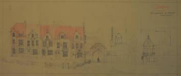 Cité Haren-Paroisse, Rue de la Paroisse 161-199, Bruxelles Haren, élévations principales (© Fondation CIVA Stichting/AAM, Brussels/ Paul Hamesse)