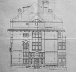 Château Les Asiliers, Avenue du Vert Chasseur 44, Uccle, élévation principale (© Fondation CIVA Stichting/AAM, Brussels/ Paul Hamesse)