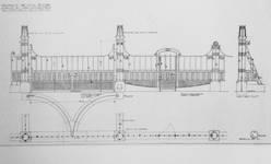 Château Les Asiliers, Avenue du Vert Chasseur 44, Uccle, dessin des grilles de l'entrée (© Fondation CIVA Stichting/AAM, Brussels/ Paul Hamesse)