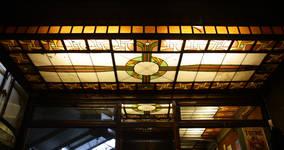 Hôtel Cohn-Donnay, Rue Royale 316, rez-de-chaussée, Saint-Josse-ten-Noode, lanterneau de la veranda ( © APEB, photo 2013)