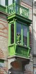 Keizer Karelstraat 103, Brussel Uitbreiding Oost, erker (© APEB, foto 2017)