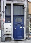 Rue du Lombard 5-9, Bruxelles, porte d'entrée (© CM, photo 2014)