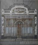 Magasin Cecil Shoe, Rue Neuve 49, Bruxelles, dessin, archives familiales Hamesse