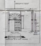 Rue Neuve 48-50, Bruxelles, transformation des bureaux de la S.A. Générale Belgo-Cinéma, détail de la porte d'entrée, AVB/TP 26770 (1921)