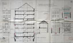 Blampoix, Boulevard du Régent 9, Bruxelles, projet de transformation, élévations des façades et coupe, AVB/TP 32001 (1924)