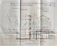 Michiels, Rue Haute 195-199, Bruxelles, projet de transformation du 195, plan du rez-de-chaussée et élévation de la façade, AVB/TP 34143 (1927)