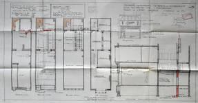 Etam, Rue Neuve 46, Bruxelles, projet de transformation, plan des niveaux, coupe et élévation , AVB/TP 33766 (1928)