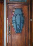 Papiers peints Debruyne-Vleck, Rue Saint-Jean 41, Bruxelles, porte d'entrée des communs (© CM, photo 2014)