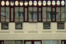 Avenue Louise 413, Bruxelles Extension Est, Le Monte-Carlo, immeuble postmoderne intégrant des références à l'Hôtel Sigart, détail (© SPRB-BDU, photo 2006)