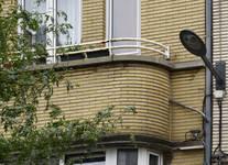 Hansen-Soulielaan 8, Etterbeek, detail van de bow-window ( © APEB, foto 2017)