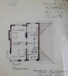 Coxyde, projet de construction de villa, plan de l'étage, archives familiales Hamesse