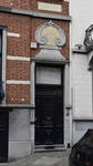 Rue Arthur Diderich 20, Saint-Gilles, porte d'entrée surmontée d'un médaillon à sgraffite ( © APEB, photo 2017)