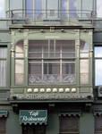 Hôtel Cohn-Donnay, Koningsstraat 316,  Sint-Josse-ten-Node, erker ( © APEB, foto 2013)