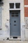 Rue des Mélèzes 76, Ixelles, porte d'entrée (© APEB, photo 2017)