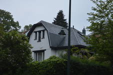 Avenue des Sept Bonniers 167, façade à rue et façade latéraleForest (© APEB photo 2017)