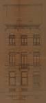 Rue des Palais 17, Schaerbeek, élévation de la façade principale, ACS/Urb. 204-107 (1913)