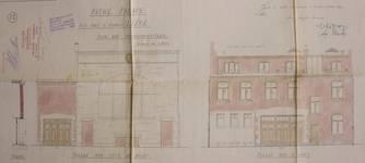Pathé Palace, Rue Pont d'Avroy |rue Tête de Bœuf |rue d'Amay, Liège, façades rue Tête de Bœuf et rue d'Amay, AVL, Fonds permis de bâtir n° 10325 (1914)