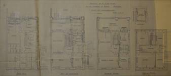 Chaussée de Ninove 162-164, Molenbeek-Saint-Jean, plan des niveaux (© Fondation CIVA Stichting/AAM, Brussels/ Paul Hamesse)