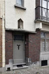 Rue des Glaïeuls 40, Uccle, porte d'entrée (© CM, photo 2017)