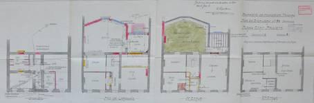 Rue du Berceau 28, Bruxelles Extension Est, plan des niveaux, AVB/TP 20901